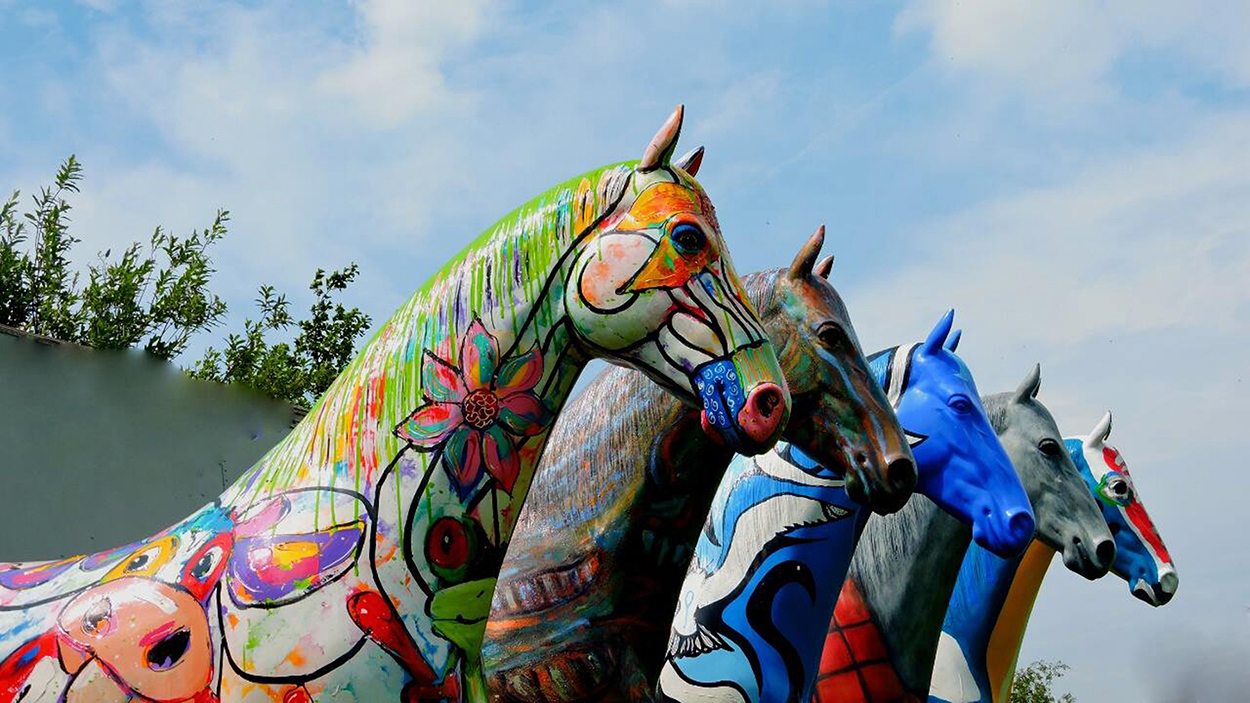 Lifesize art horses painted by various artists