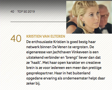 "Voted ranking Nr. 40 on the list of ""Most Influential Persons in the Venen""."